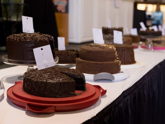 Competition cakes at the annual Gerry Frank Chocolate Layer Cake Contest.