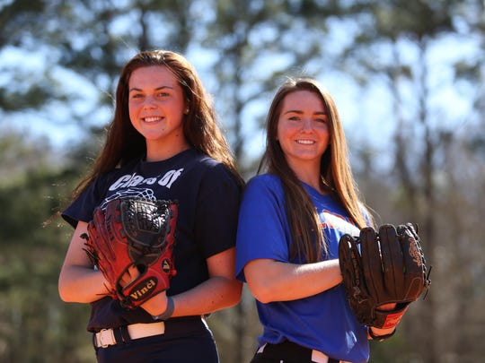 Aucilla Christian sophomores Abigail Morgan, left, and Elizabeth Hightower provide a dominant 1-2 punch for the defending 2A state champion Warriors. Morgan is a Florida Atlantic commit, while Hightower committed to Florida over Michigan.