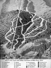 Mad River Glen trail map from 1960.