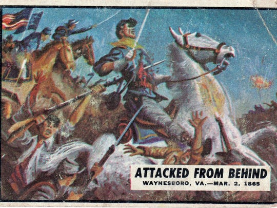 The front of a Battle of Waynesboro card.