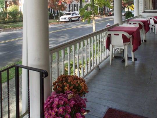 The porch of the Cranbury Inn.