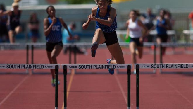 Union Catholic's Sydney McLaughlin won the Non-Public A girls 400 hurdles.