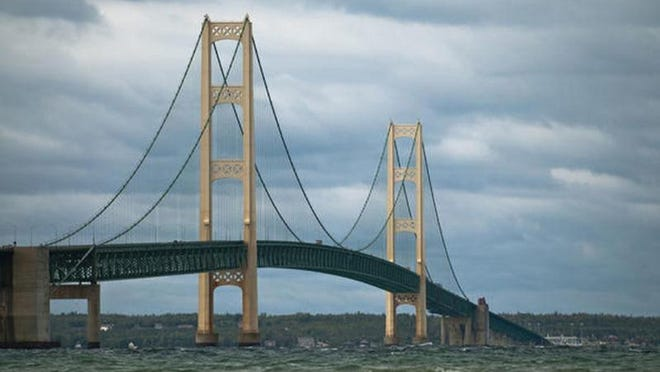 Pipeline company Enbridge aims to develop a utility tunnel beneath the Straits of Mackinac, which would replace the current underwater crossing for its Line 5 petroleum pipeline. File photo