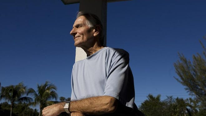 Sanibel resident John Kanzius talks to the media Friday 12/19/2008. His experiment with cancer treatment shows his theories to are correct. In a manuscript published Friday, researchers say they have successfully targeted and killed two of the most deadly types of cancer cells, colon and pancreatic. Kanzius has proposed using radio waves and nanoparticles to kill cancer cells.
