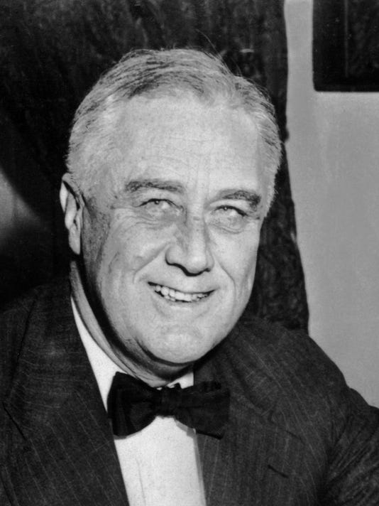 An undated portrait of US President Franklin D. Ro