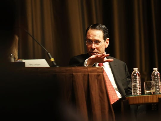 AT&T CEO CEO Randall Stephenson Speaks At New York Economic Club