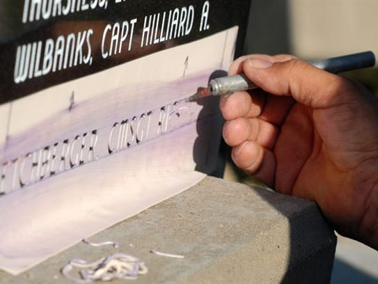 Etchberger's name is being etched into a monument to