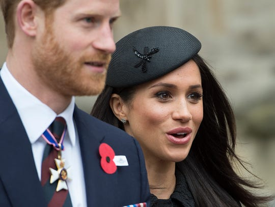 Meghan Markle and Prince Harry attend an Anzac Day