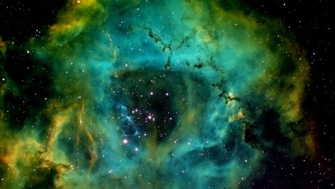 This photo of the Rosette Nebula, also known as NGC 2237 or Caldwell 49, captures the rose-like beauty of the emission nebula, which is located in the Monoceros (Unicorn) Constellation region of the Milky Way galaxy, 5,200 light years away.