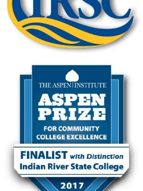 The Aspen Finalist with Distinction, came $100,000 in prize money for  Indian River State College.