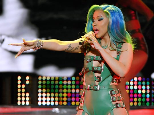 Rapper Cardi B performs during the 2019 Adult Video News Awards at The Joint inside the Hard Rock Hotel & Casino in Las Vegas, Nevada.