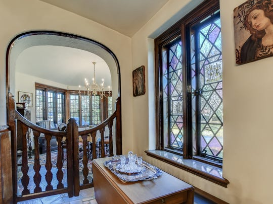 Added details in the home are arched and Gothic style doorways.