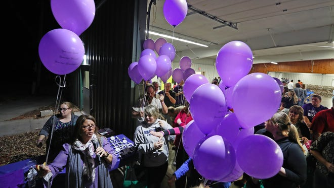 "At a ""Hope over Heroin"" gathering in October at the Rock County Fairgrounds, helium balloons were released in memory of each of the 34 county residents who died from an overdose in 2016."