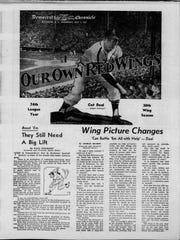 "Opening Day 1957. ""Our Own Red Wings'' was the headline.  Sports editor Paul Pinckney called it ""Independence Day.''"