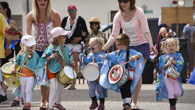 The children's parade weaved its way through the church parking lot during the Richmond River Lake Days in 2016.