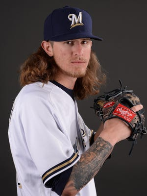 Brewers reliever Josh Hader has decided to wear contacts instead of pitching with goggles.