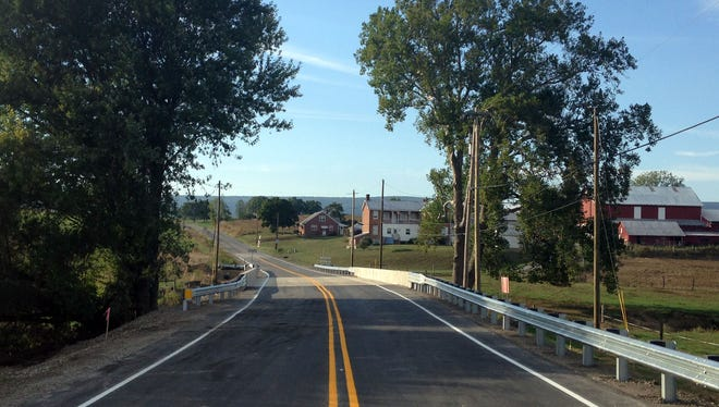 Fort McCord Road reopened on Sept. 21, 2016, at the new bridge over Back Creek.