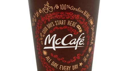 McDonald's is giving away free cups of coffee every day for two weeks starting Monday, March 31.