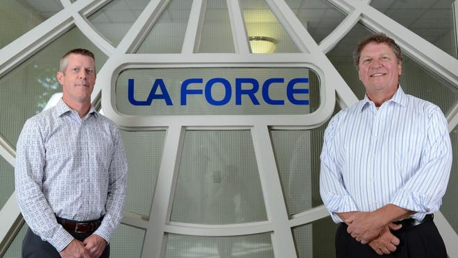 LaForce Inc., led by President Brian Mannering (left) and CEO Ken Metzler, celebrates its 60th anniversary this year.