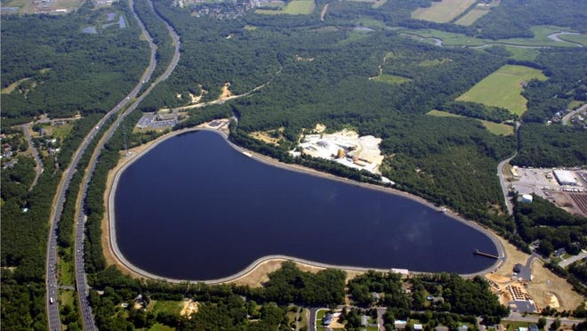 The Brick Township Municipal Utilities Authority's reservoir. Brick's water system is under increased scrutiny because testing has repeatedly revealed high levels of lead in tap water.