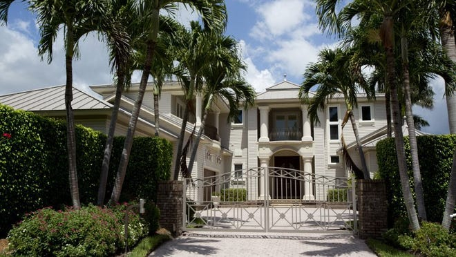 Larry Bird's mansion in Naples on July 5, 2016. The property has been on the market for roughly 2 years, and now is selling for $4.6 million, versus the previous $4.8. (Erica Brechtelsbauer/Naples Daily News)