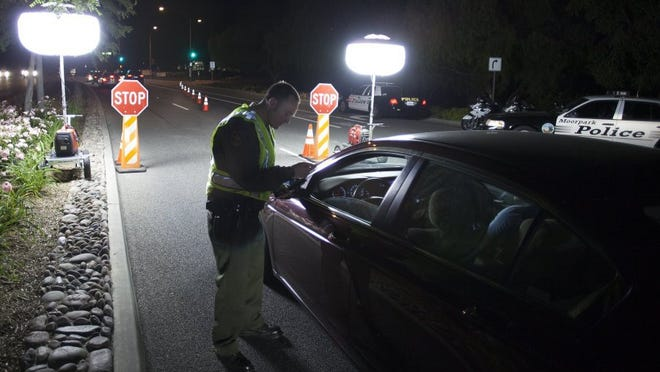 A DUI checkpoint. STAR FILE PHOTO
