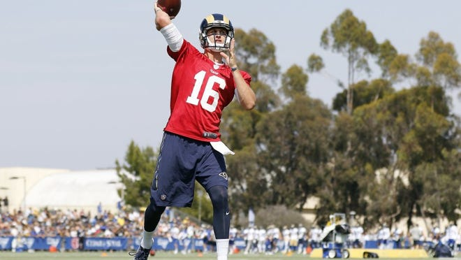 Jared Goff's seven-month wait to take over as the Rams starting quarterback will end Sunday against Miami at the Coliseum.