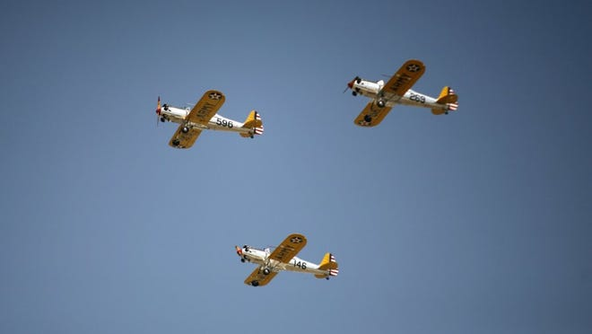 The skies over Camarillo Airport will be filled with airplanes on Friday and Saturday.
