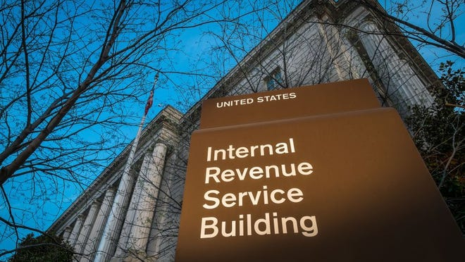 The headquarters of the Internal Revenue Service in Washington are seen at daybreak on April 13, 2014.