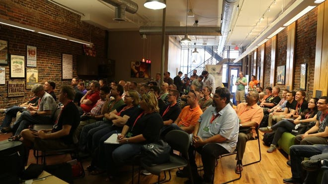 The inaugural BSides Knoxville information security conference - held at Scruffy City Hall and the Knoxville Entrepreneur Center - sold out in 2015. This year conference organizers expect an even larger crowd of approximately 250. Photos courtesy BSides Knoxville