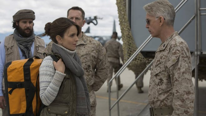 Christopher Abbott, from left, Tina Fey and Billy Bob Thornton in -Whiskey Tango Foxtrot.-