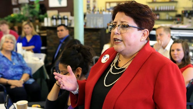 Nancy Vera, president of the American Federation of Teachers, said she is tired of talk and the community should be expecting more of its leaders during the Coastal Bend Community Response Coalition public forum on domestic violence at Sugarbakers on Thursday, July 21, 2016.