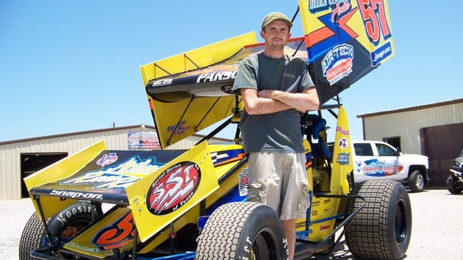 Chase Parson is a local driver who will race his No. 57 Saturday night at Abilene Speedway.