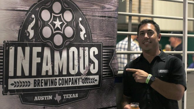 Lauren Roberts/Times Record News Matt Bitsche, co-founder of Infamous Brewing Company, returned to Wichita Falls on Saturday to talks to attendees at the Third Annual Tornado Alley Brew Tasting in the J.S. Bridwell Agricultural Center.