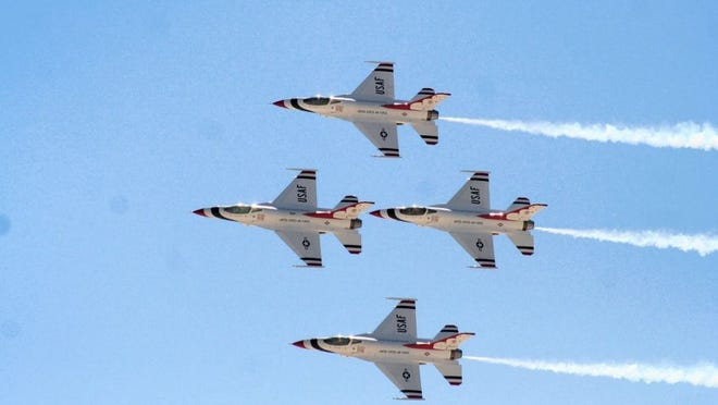 USA TODAY NETWORKS ARCHIVES The Air Force Thunderbirds will be the main attraction at the Sheppard Air Force Base Open House and Air Show Sept. 17-18.