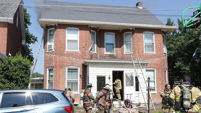 The Waynesboro Fire Department responded to a house fire Wednesday morning on Garfield Street in Waynesboro. TOYA McCLEARY/ THE RECORD HERALD