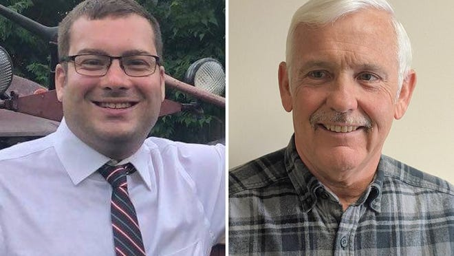 Christopher T. Porter, left, is challenging incumbent Larry G. Keck to be Fairfield Township's supervisor.