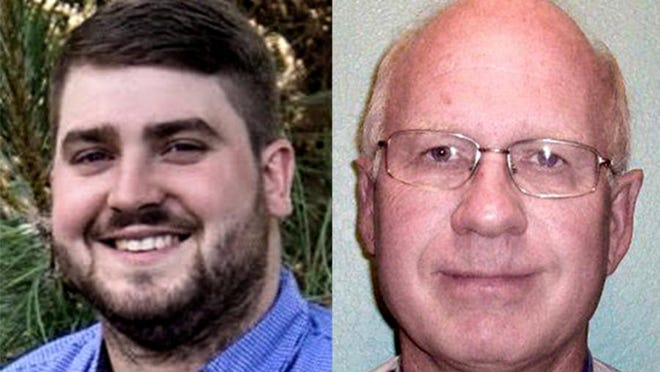 Andrew Carlson, left, and Duane Drees are running for the Finney County Commission.