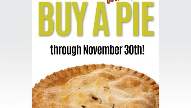 """This graphic, provided by the Adrian Music Boosters, encourages supporters of the Adrian Public Schools music programs to buy a """"virtual"""" pie this year through Nov. 30. Pie Day, an annual fundraiser, which benefits the music programs at Adrian Public Schools, will not be held this year because of the coronavirus pandemic. Supporters of the music programs at the Adrian schools can still donate to the music boosters, by purchasing a """"virtual"""" pie."""