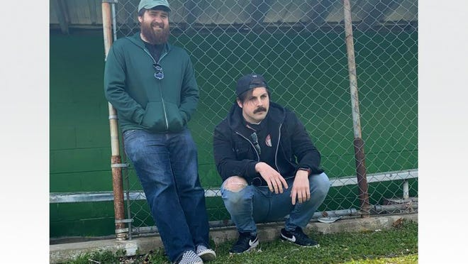 """Nathan Marks, left, and Ashton Parsons of The Injured List. The local pop rock band released a new album, """"The Difference Between Giving Up & Losing,"""" on May 15."""