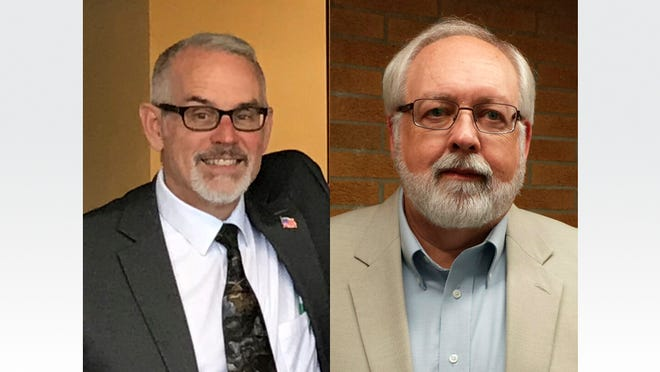 Raisin Township Trustee Tom Hawkins, left, and incumbent Supervisor Dale Witt are seeking the Republican nomination for township supervisor.