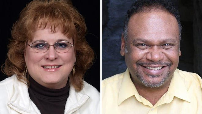 From left, incumbent Lenawee County Drain Commissioner Jenny Escott, R-Britton, is once again being challenged by Scott Jay Smith, a Democrat from Adrian.