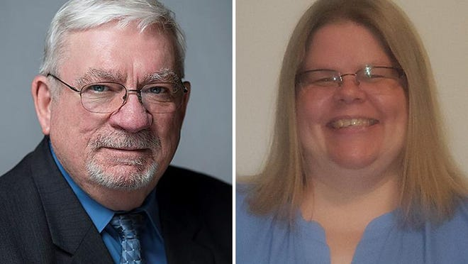 Incumbent Lenawee County Commissioner Terry Collins, left, is running for reelection against Juanita Kelley to represent the county's Sixth District, which is the west side of Adrian.