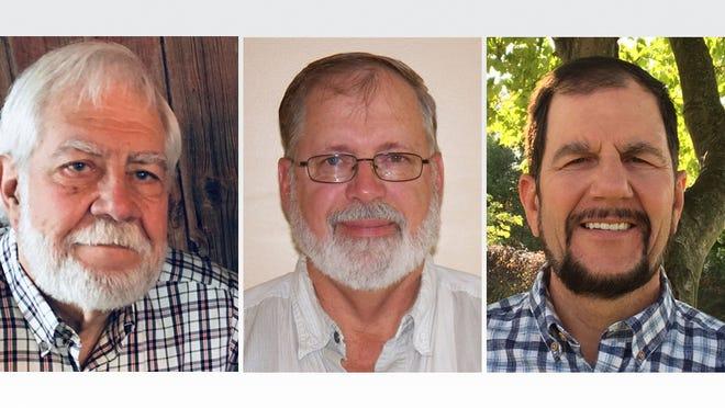 """The three candidates running for two trustee seats on the Blissfield Township Board are, from left, Orrin Gregg, Roger W. """"Bill"""" Gritzmaker and Steven WIlson."""