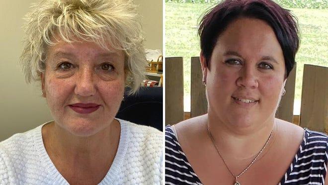 Kelley Elliott, left, and Amber Swander are running to be Dover Township's clerk.