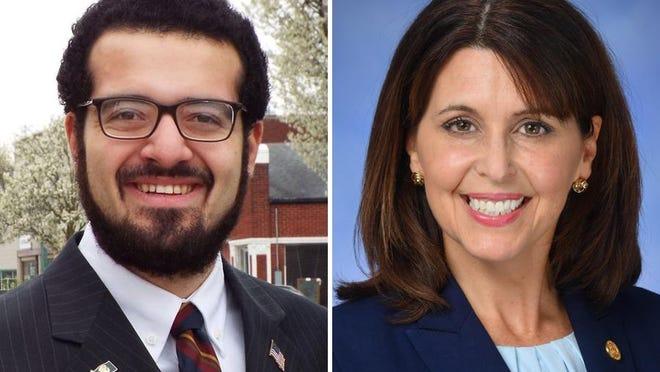 Democrat Will Garcia of Adrian, left, is running against incumbent state Rep. Bronna Kahle, R-Adrian.