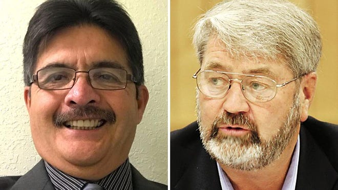 Blissfield Village President Bob Valdez, left, is running for reelection against the man he defeated in 2018, A. Ray Jones.