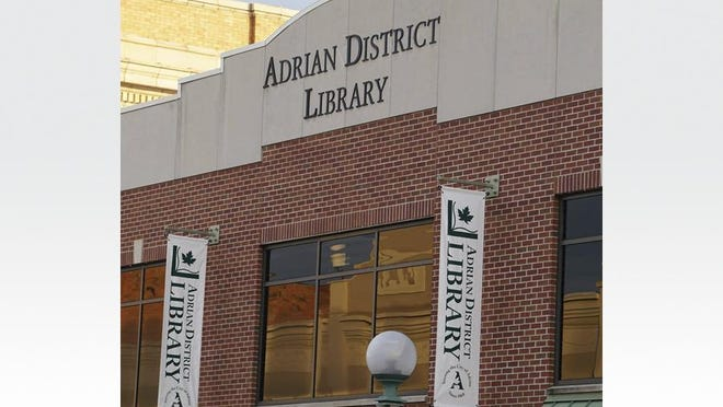 The exterior of the Adrian District Library, 143 E. Maumee St., downtown Adrian.