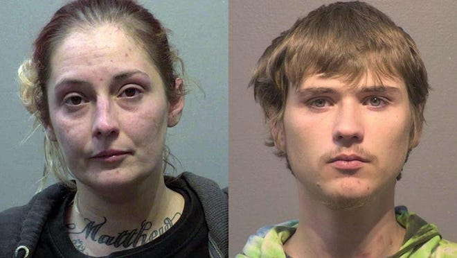 Amber Duren, 33, and James Bellamy, 20, both of Adrian, were sentenced Jan. 25 in Branch County Circuit Court for trying to smuggle drugs into the Lakeland Correctional Facility near Coldwater.