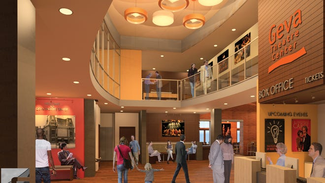 A rendering of proposed renovations at Geva Theatre Center in Rochester.